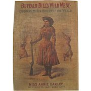 Buffalo Bill's Wild West - Miss Annie Oakley Lacquered Print w/Frame