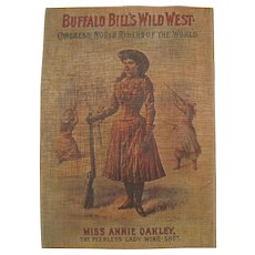 Buffalo Bill's Wild West - Miss Annie Oakley Lacquered Print w/Frame