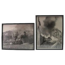 Pair of Original Denver & Rio Grande Railroad B & W Photos