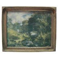 "C.1910 ""A Glimpse Through The Wood"" Print - Gerlach-Barklow Co. Joliet, Illinois USA"