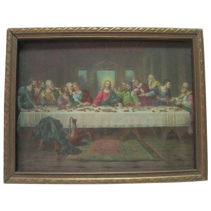 Brunozetti Print of The Last Supper - Signed : Bearski Gallery llc ...