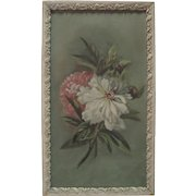 Late 1800's Flower Still Life - Oil on Canvas