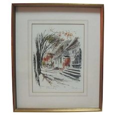 Lithograph - Williamsburg - Coleman House - John Haymson