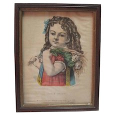 """""""Little Daisy"""" Lithograph by Currier & Ives"""