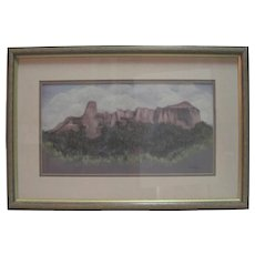 """Watercolor by Lorraine Sells - """"Clouds Over Courthouse Mountain"""" Colorado"""