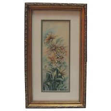 Watercolor of Flowers/Still Life by Langston