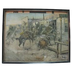 1909 Russell Western Print