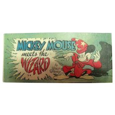 1947 Mickey Mouse Meets The Wizard Mini Comic - Y4 Walt Disney Production