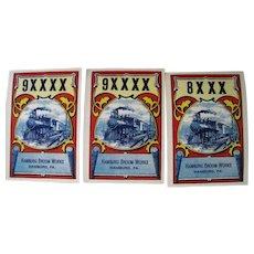 Vintage Lot of 8XXX & 9XXX Train Hamburg Broom Works Labels