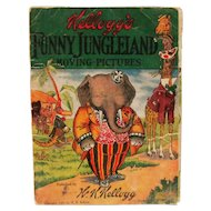 "1909 W.K. Kellogg ""Funny Jungleland"" Moving Pictures Book"