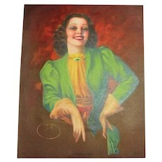 """1930's - 40's #979 """"A Smile Worth While"""" Print"""