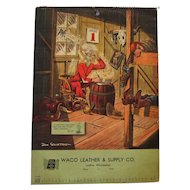 1949 Waco Leather & Supply Co. Western Calendar - Comical