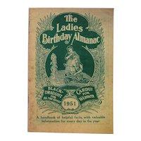1951 The Ladies Birthday Almanac