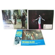 Set of (3) Lobby Cards - 1972 Lady Sings The Blues/Brother Sun Sister Moon/Treasure Island