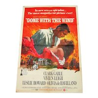 "1968 Original Metro-Goldwyn-Mayer Inc - ""Gone With The Wind"" Poster - 1 Sheet"