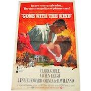 "1968 Original Metro-Goldwyn-Mayer Inc - ""Gone With The Wind"" Poster - 1 Sheet"