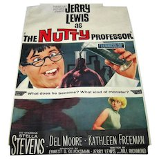 "Original Jerry Lewis ""The Nutty Professor"" - Poster Signed"