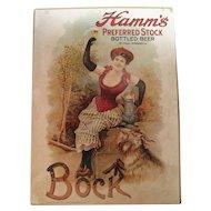 Hamm's Preferred Stock Bottled Beer Poster C. 1975