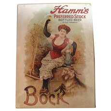 Hamm's Preferred Stock Bottled Beer Poster C. 1975