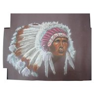 1985 Bodie Todeschi Pastel Drawing - Chief Indian