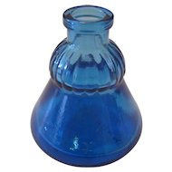 Vintage Blue Glass Ink Well Glass Bottle - Wheaton, New Jersey