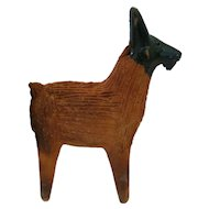 South American Pottery/Clay Billy Goat w/Painted Head