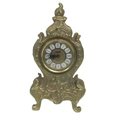 Footed Gold Gilt ALMA 8-Day Clock