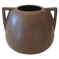Fulper Twin Handled Vase - Mission Matte Brown Glaze