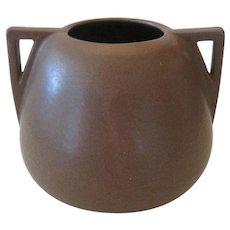 Fulper Twin Handled Vase - Mission Matte Brown Glaze