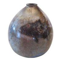 Murano - B Bendzenes 2003 Hand Blown Vase w/Fish
