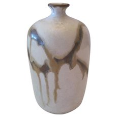 Ruth Steiner Crystalline Drip American Pottery Vase - C8 79' Signed