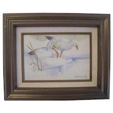 """Signed Wynn Clark - Oil on Canvas - """"Snow Geese"""""""