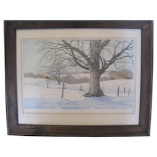 """First Snow"" by Carol Collette - Etching w/COA"