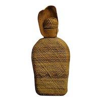 Native American Hupa Woven Basket Around Bottle w/Lid - Circa 1900's