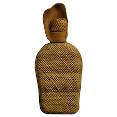 Native American Hupa Woven Basket Around Bottle w/Lid - Circa 1900's