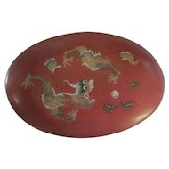 Chung Mei Lacquer - Foochow China - 5 Toed Dragon Box