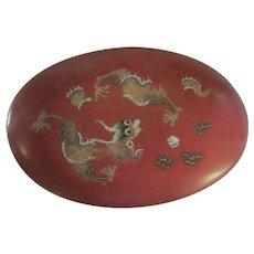 Chung Mei Lacquer - Foochow China - 5 Toed Dragon Box