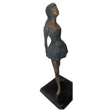 """Large Little Dancer Ballet Girl Bronze Statue - 35"""" Tall"""