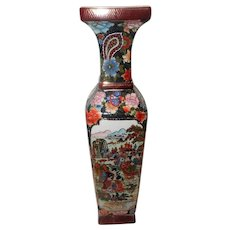 "Chinese Hand Painted Porcelain Vase - Marked on Bottom ""King's"""