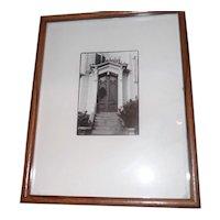 "Lynda McGee - Black & White Photo - ""240 Buffalo St."" - 12"" x 15"" Framed"