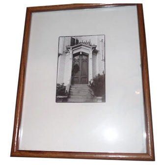 "Lynda McGee - Black & White Photo - ""240 Buffalo St."" - 12"" x 15"" Framed"