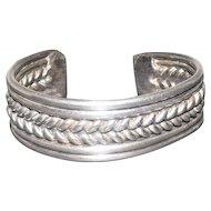"""Metal Braided Bracelet - 2 1/8"""" Wide"""