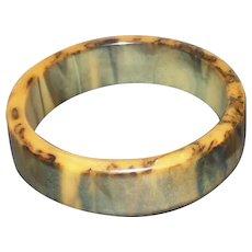"Butterscotch Bakelite Bangle Bracelet - 2 5/8"" Diameter"