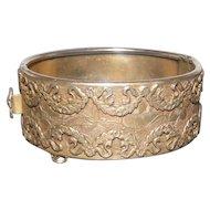 Sandor Co. Brass/Metal Wreath Hinged Bracelet