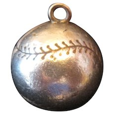 1925 10K Yellow Gold A's Philadelphia Athletics Baseball Charm