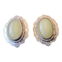 Citrine Sterling Pair of Clip-On Earrings