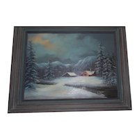 Beautiful Winter Landscape Oil on Canvas by Mary Yardas