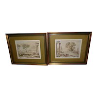 Pair of Prof. Framed & Matted Engraving Prints