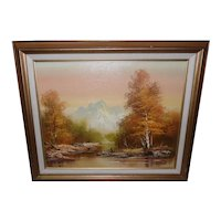 Framed Oil on Canvas - Fall Landscape Signed by Cooper