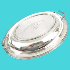 Art Deco Silver Plate Prize Vegetable Tureen